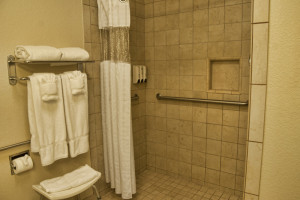 Full Stand up Shower Hotel Room