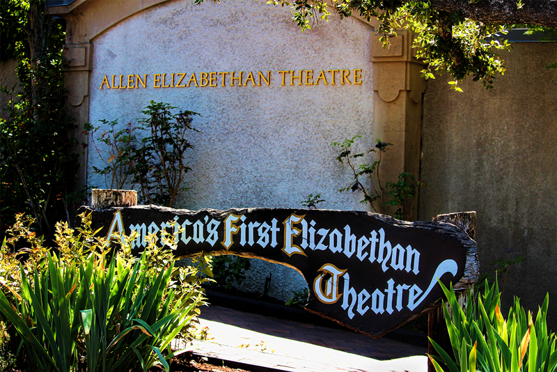 Elizabethan Theatre sign ashland Oregon