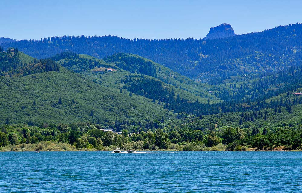 a view of pilot rock from emigrant lake